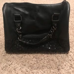 Express Black and Sequin Purse